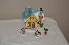 DEPARTMENT 56  DISNEY MICKEY'S HOUSE -4 PIECE HOLIDAY SET --LIT HOUSE-3 ACCESS.