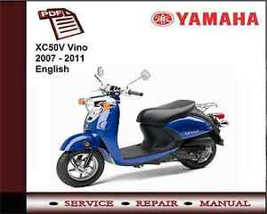 yamaha xc50v xc50 vino 2007 2011 workshop service repair manual ebay rh ebay ie 2001 yamaha vino manual yamaha vino 125 manual