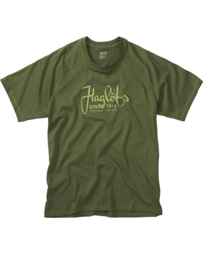 Haglofs Organic Cotton Tshirt Various sizes Juniper Green