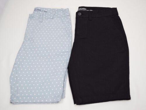 Women/'s Gap Khakis The City 9 Inch Bermuda Walking Shorts Black Gray Size 0,2