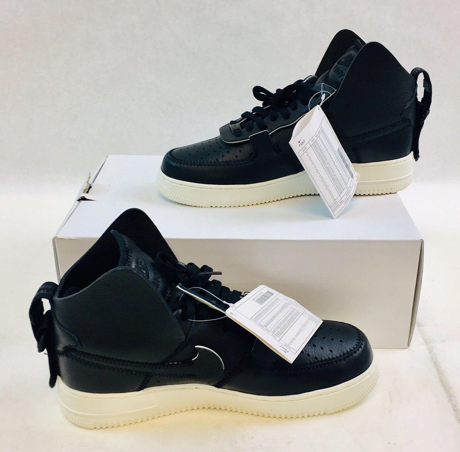 PSNY x Nike - Air Force Force Force 1 High - Black Black-Sail - Men's Size 9.5 - NEW W  BOX 537512