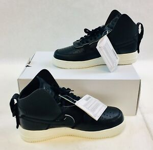 the latest 2a702 48087 Image is loading PSNY-x-Nike-Air-Force-1-High-Black-