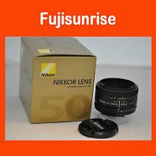 Nuevo NIKON AF 50mm f/1.8 D Objetivo Lente