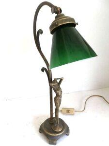 Jour Laiton avec et en pour Détails Femmes Abat Verre Lampe de Table Table sur Chevet NnO8wm0v