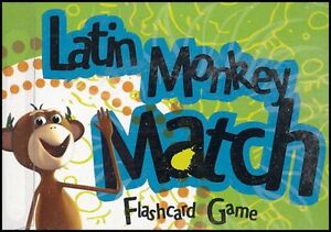 Classical-Academic-Latin-Monkey-Match-Flashcard-Game
