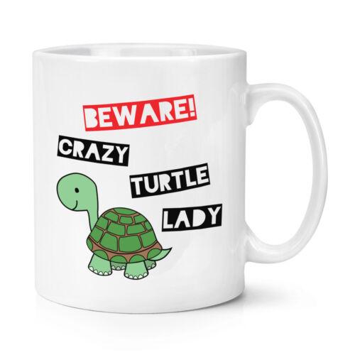 Tiere Lustig Beware Verrückte Schildkröte Damen 284ml Becher Tasse