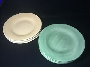 POTTERY-BARN-034-Sausalito-034-Butter-Yellow-Natural-or-Sage-Dinner-Plates-12-1-4-034