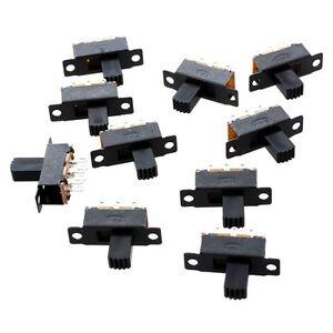 10-Pcs-6-Broches-2-Positions-DPDT-On-On-Mini-Interrupteur-a-glissiere-M1