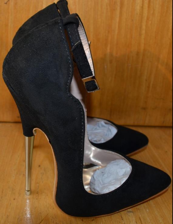 16CM Nightclub Wouomo Suede Club Pointed Toe Stilettos Sexy High Heels scarpe