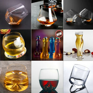 2x-Crystal-Wine-Glass-Beer-Glass-Drinking-Tumbler-Rum-Cup-Bar-Scotch-Drinkware