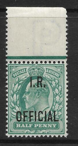 Sg020 d Green Edward VII 'I R OFFICIAL' overprint UNMOUNTED MINTMNH