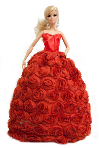 3-pack Sweetheart Floral Gown Covered with Roses for 11.5 inches Doll