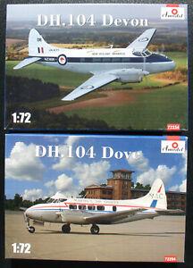 Amodel-72294-72334-DH-104-Dove-Devon-1-72-Flugzeug-Bausatz-Kit