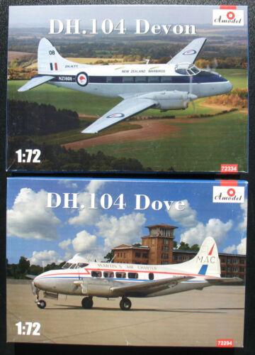 104 Dove 72334 Flugzeug Bausatz DH Amodel 72294 Devon Kit 1:72
