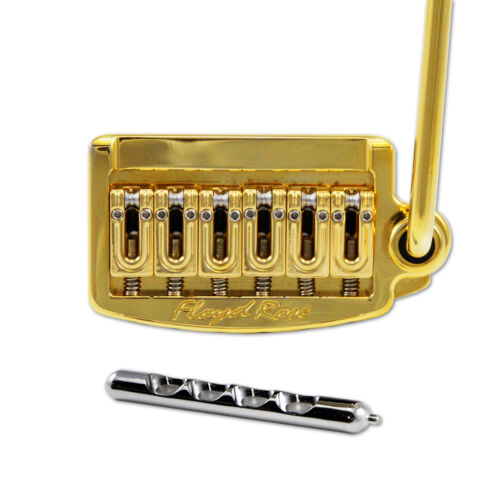 Floyd Rose Rail Tail Tremolo Kit Gold for Strat Style guitars Wide RT300W