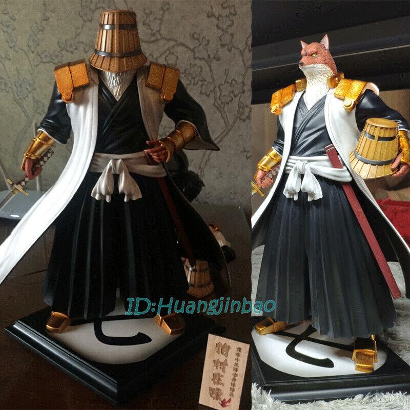 Foc Komamura Sajin estatuilla imitar Gem Blanqueador dos cabeza estatua Gk En Stock Anime