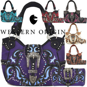Image Is Loading Western Buckle Country Handbags Concealed Purses Women Shoulder