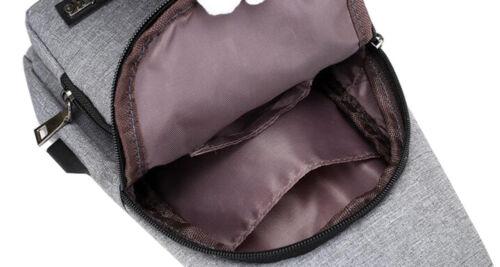 Men/'s Canvas Single Shoulder Travel Cross Body Bags Chest Messenger Sling Bag