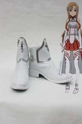 Anime Sword Art Online SAO Asuna Yuuki Cosplay Boots Shoes