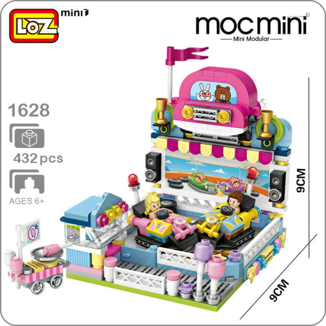 LOZ 1729 Amusement Park Drinking Shop 3D Model Small Mini Blocks Building Toy