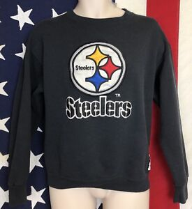 the best attitude 2409f 6812d Details about Vintage Nutmeg Team NFL Pro Line Pittsburgh Steelers  Sweatshirt Shirt Jersey L