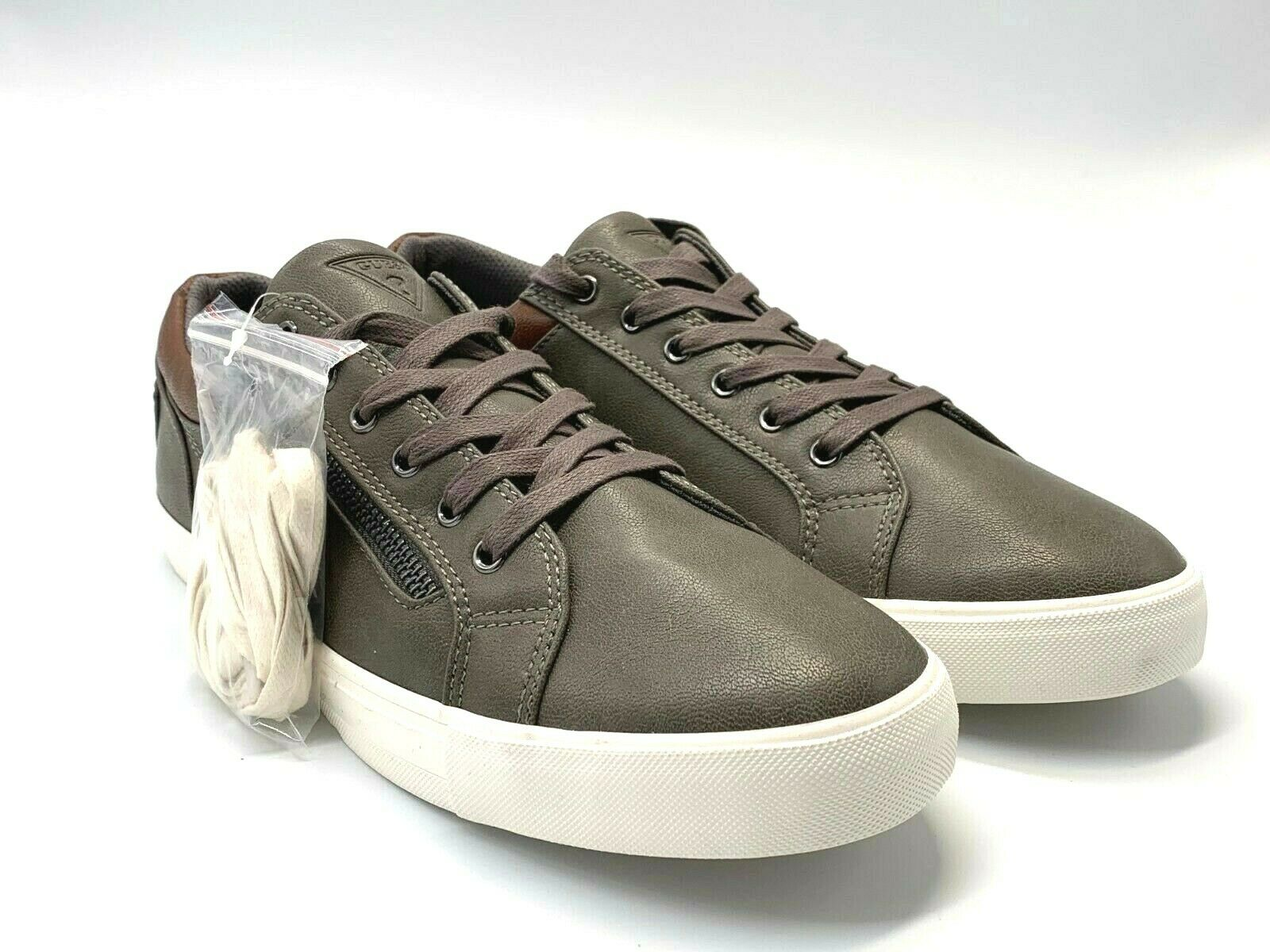 New Guess Men's grey leather sneakers  size 10.5