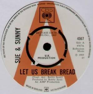 SUE-amp-SUNNY-LET-US-BREAK-BREAD-1969-UK-034-PROMO-034-7-034-SINGLE-CBS-4567