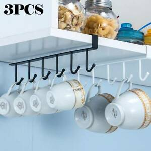 Metal Coffee Cup Rack Stand Kitchen Storage Rack Cupboard