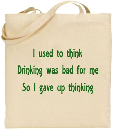Details about  /I Used To Think Drinking Was Bad For Me Large Cotton Tote Bag Canvas Father Day