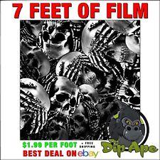 Hydrographic Film Skulls See No Evil Skeletons 3 7 X 20 Of Film Hydro Dip Ape