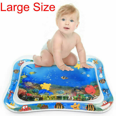 Tummy Time Inflatable Infants Baby Water Mat Fun Activity Large 26X20 Sea Toys