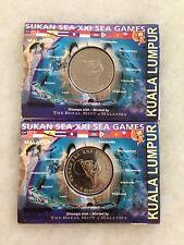 (JC) 2pcs 21st KL SEA Games Coin Card 2001