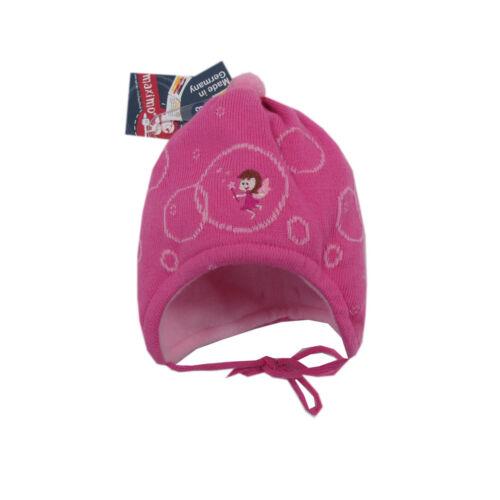 MaxiMo Mütze Mützen Strickmütze Bindemütze Mädchen Baby Pink Winter Gr 37 43