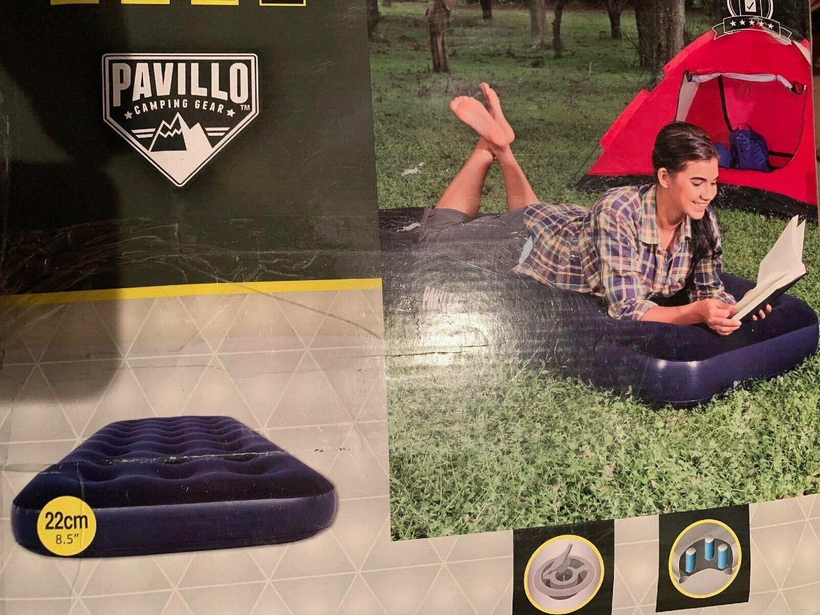 Bestway Pavilion Comfort Quest Flocked Single Air Bed Blue 185x76x22 cm