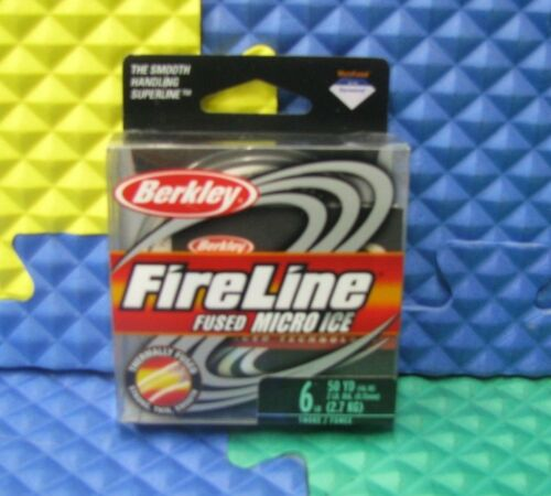 50yd BERKLEY FIRELINE MICRO ICE FUSED 6lb #FLIPS6-42 SMOKE