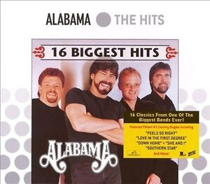 FREE US SHIP. on ANY 3+ CDs! ~Used,Good CD Alabama: 16 Biggest Hits (Eco packagi