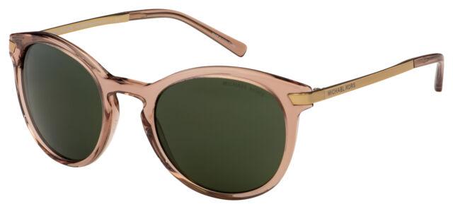 Michael Kors Adrianna III Sunglasses MK 2023 330271 53 Transp Brown | Green Lens