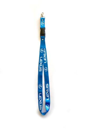 LEXUS Lanyards 1 inch x 22 inch KeyChain ID Badge Cardholder BLUE