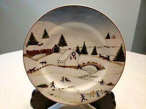CHRISTMAS-VALLEY-BRIDGE-SALAD-DESSERT-PLATE-1-SAKURA-DAVID-CARTER-BROWN