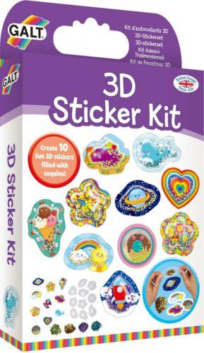 Galt 3D STICKER KIT Children Craft Activity Toy BN