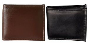 Faux Leather Combo Wallet  In Black And Brown Color