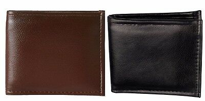 Faux Leather Combo Wallet in Black and Brown