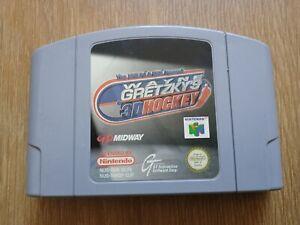 Wayne Gretzky's 3D hockey sobre hielo 98 Nintendo 64 N64 PAL