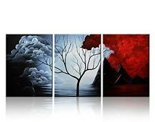 Wall Art Decor Modern Abstract Oil Painting Landscape Frame 3Pc Pieces Canvas