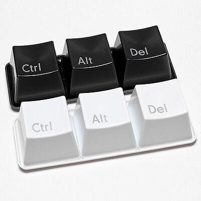 Ctrl ALT DEL Keyboard Key Coffee Tea Mug Cup Container Choose Black/White Color