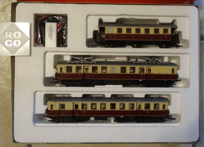 ROCO h0 43007 DRG elektrossoriebwagenzug 1130 IN SCATOLA ORIGINALE