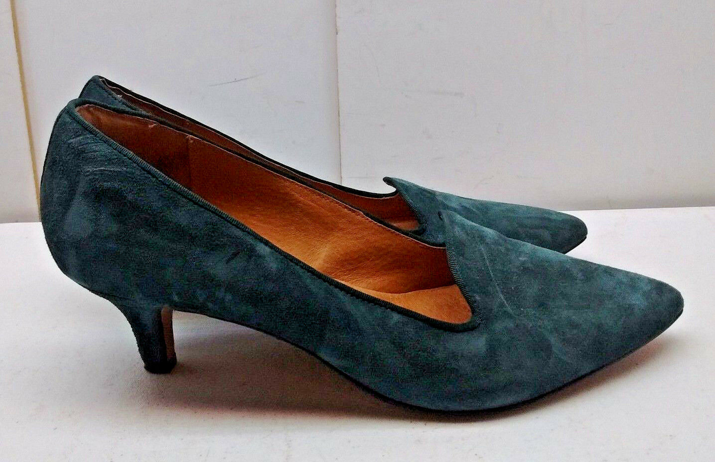 Clarks Indigo Dark Grün Leather Slip On On On Stiletto Heel Pump Dress damen schuhe 10M dd4b4d