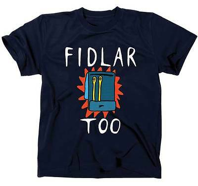 Authentic FIDLAR Matchbook Too Skate Punk Slim-Fit T-Shirt Navy S M L XL NEW