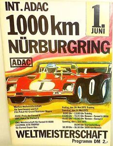 1. Juin 1975 Int Adac 1000km Coupe Du Monde Fia Ons Nürburgring Brochure De CaractèRe Aromatique Et GoûT AgréAble