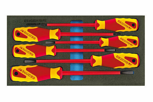 Gedore VDE Screwdiver set in 1 3 Check-Tool module 2309173